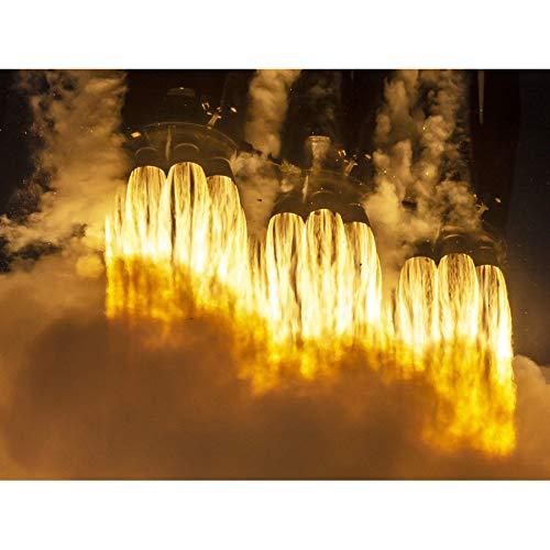 Space X Arabsat-6A Mission Rocket Thrusters Unframed Wall Art Print Poster Home Decor Premium Spazio Razzo Parete Manifesto Casa