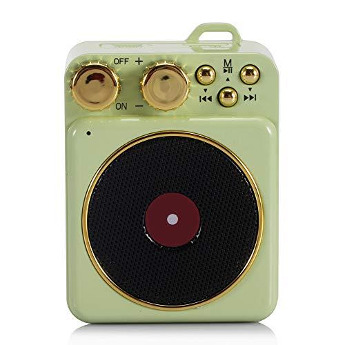 qiyanCreative Gift Pequeño Tocadiscos Retro Teléfono port