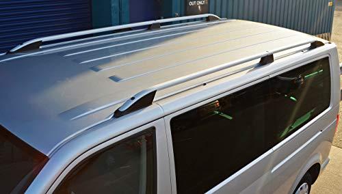 Barras de techo para L2H1 T5 Transporter (2003-15) aluminio plateado