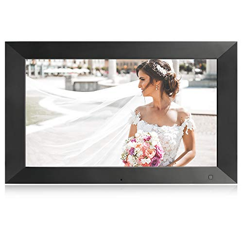 BSIMB 15.6 Inch Digital Photo Frame WiFi Digital Picture Frame HD 1920x1080(16:9) IPS Big Screen 16GB Storage Remote Control Support iPhone Android Cloud App Twitter Facebook Email(W02X) Black