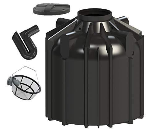 Rotationsvertrieb Gera GmbH & Co.KG Regenwasserzisterne Komplettset 8300 Liter inklusive Anschlüsse, Garten-Filterset und Stülpabdeckung