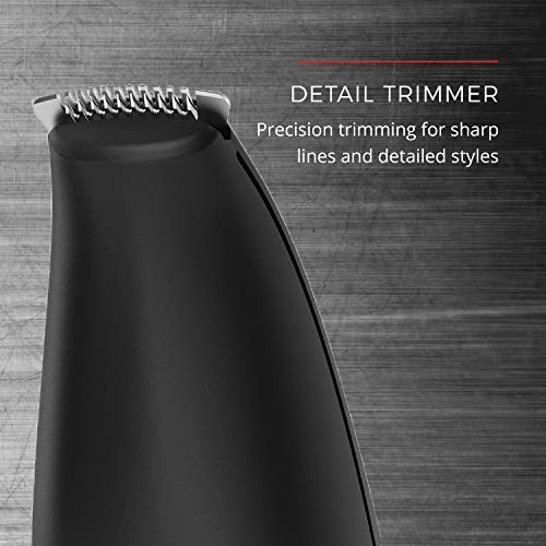 Remington PG6171 The Crafter - Beard Boss Style and Detail Kit, Beard Trimmer, Grooming Set, Platinum, 11 Pieces