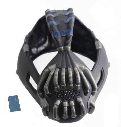 Xcoser Halloween Maske mit Voice Changer Cosplay Kostüm Herren Halloween Verrücktes Kleid Latex Helm Replik für Party Zubehör