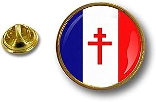 Spilla Pin pin's Spille spilletta Giacca Bandiera Badge Francia Croce di Lorena