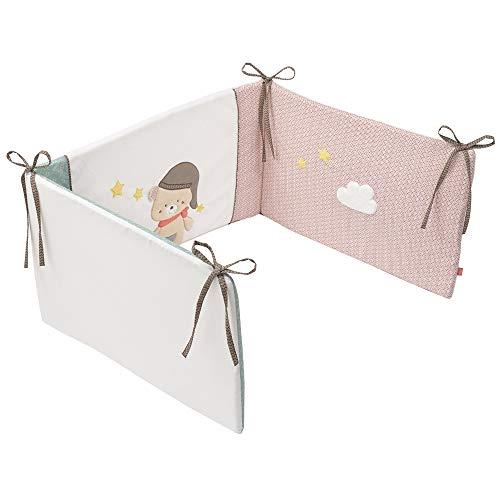 Fehn 060560 Bruno Tour de lit doux pour enfant avec surface de couchage 70 x 140 cm Multicolore