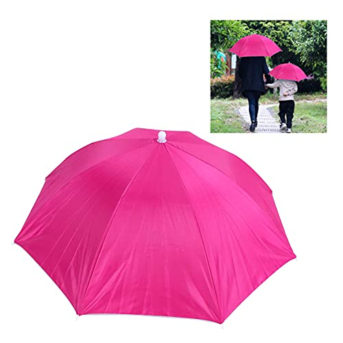 Gaeirt Sombrero de sombrilla, sombrilla de Barco fácil de Usar.Utilice ampliamente Telas de poliéster para días lluviosos.(Pink)