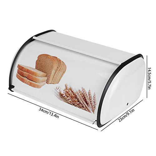 Boîte à pain Conteneur à pain pratique Cadeau pour vos amis Organisateur de rangement de cuisine pour cuisiner pour le ménage(white)