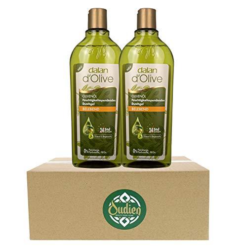 OUDIEN 2er Set dalan d'Olive Duschgel je 400ml, belebende Pflegedusche mit Olivenöl, feuchtigkeitsspendendes Naturduschgel