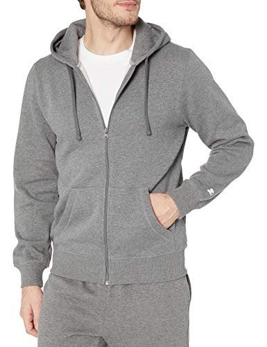 Starter Men's Zip-Up Hoodie, Amazon Exclusive, Iron Grey Heather, Large
