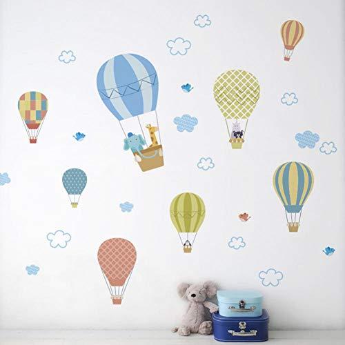 White Cloud Heteluchtballon, muursticker, voor baby's, slaapkamer, kinderkamer, decoratie, behang, wooncultuur, afneembare sticker