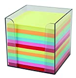 Idena 311068 - Zettelbox, 9 x 9 x 10 cm, 80g/m², 700 Blatt, farbig, 1 Stück