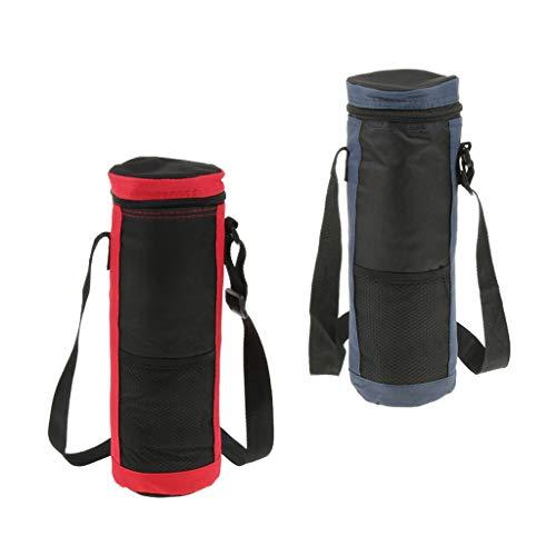 P Prettyia Flaschenkühler mit Tragegurt,Trinkflasche Kühltasche,Flasche- Picknick Wasserflasche Tragetasche für Camping,Sport,Yoga oder Reise.