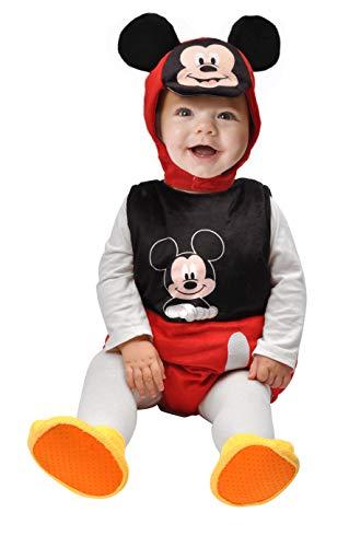 Ciao Baby Mickey traje pelele fagottino Disney, 6–12meses Unisex Niños, Negro, Rojo, Blanco, 11254.6–12