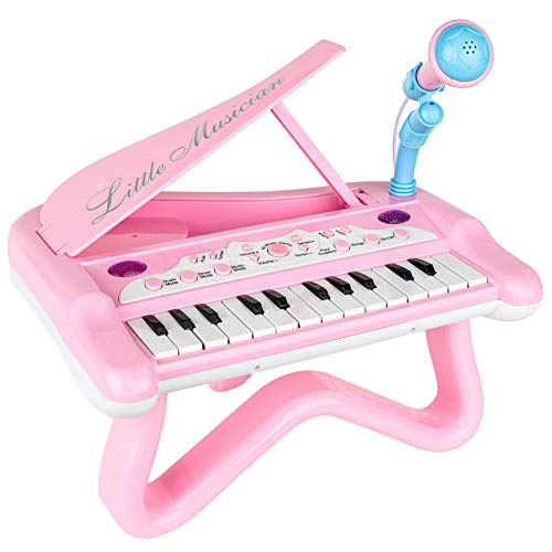 ToyVelt Toy Piano for Toddler Girls – Cute Piano for Kids with Built-in Microphone & Music Modes - Best Birthday Gifts for 3 4 5 Year Old Girls – Educational Keyboard Musical Instrument Toys