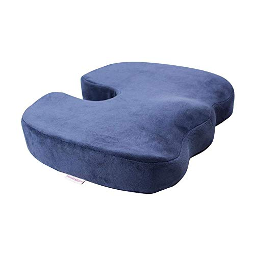HANHANDIAN Memory Foam Seat Cushion for Office Chair, Seat Cushion for Tailbone Pain, Office Chair Cushion for Sciatica Discomfort with Non Slip Base