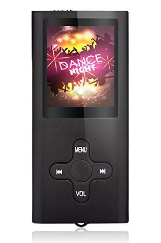 Tabmart Metal Hi-Fi Capacità Di 16GB Lettore MP3 Musicale Portatile Lettore MP4 Ad Alta Risoluzione Con 1,8 Pollici Schermo MP3 Lettore Multifunzione 10 Ore Di Riproduzione Continua, Nero