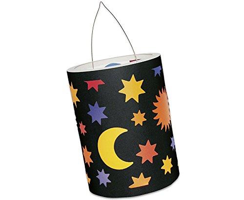Unbekannt - Sonne-Mond-Sterne Laternen-Zuschnitte, 10 Stück - Laternen-Basteln Kinder