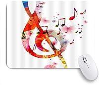 VAMIX マウスパッド 個性的 おしゃれ 柔軟 かわいい ゴム製裏面 ゲーミングマウスパッド PC ノートパソコン オフィス用 デスクマット 滑り止め 耐久性が良い おもしろいパターン (クリエイティブアートミュージックノートリズムソング)