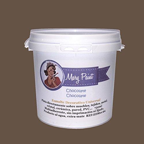 Mary Paint | Pintura para muebles efecto Chalk Paint, Chocolate - 750ml