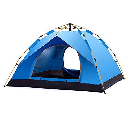 Tienda de campaña Tienda Ultraligera 3-4 Hombre Camping Senderismo al Aire Libre (Azul)