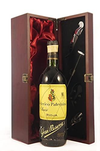 Rioja Gran Reserva 1973 Frederico Paternina en una caja de regalo forrada de seda con cuatro accesorios de vino, 1 x 750ml