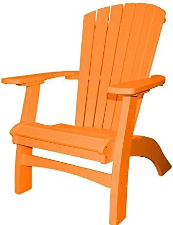 Poly Max 83% OFF Casual Seaside Upright Chair Tucson Mall Adirondack Orange