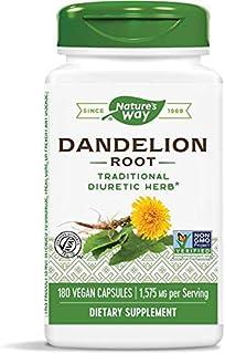 Nature's Way Dandelion Root, 1,575 mg per Serving, 180 Vegan Capsules (2-Pack)