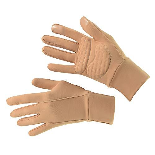 WIFA Eislauf und Sport Handschuhe gepolstert mit Gel Polsterung Touchscreen rutschfest atmungsaktiv für Kinder und Erwachsene (beige, 1)