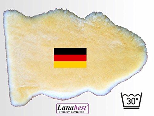 Lammfell fürs Baby, ca. 80 cm. In DEUTSCHLAND hergestellt, FABRIKFRISCH, medizinisch gegerbte Merino-Lammfelle, 30°C waschbar, Öko-Tex. Schadstoffarmes Babyfell in Geschenkqualität. Ca.80cm