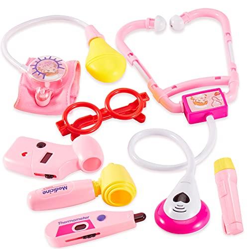 HERSITY Dottore Giocattolo Medico Accessori con Luci e Suono Regali per 3 4 5 Anni Bambini