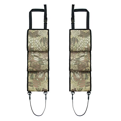 JIANEEXSQ Car Concealed Seat Back Gun Rack Hunting Gear Seat Back Gun Sling Bag Holder Organizer for Rifle Hunting Universal Fit for Truck SUV Car Shooting Accessories (Snake Camouflage)