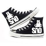MAZF Zapatos de Lona Sword Art Online High Gang Unisex Zapatos Cordón Diarios de los Zapatos Transpirables Salvajes Zapatos de Lona Animado Impreso-38