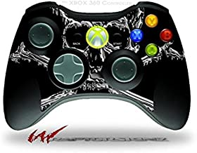 XBOX 360 Wireless Controller Decal Style Skin - Chrome Skull on Black (CONTROLLER NOT INCLUDED)