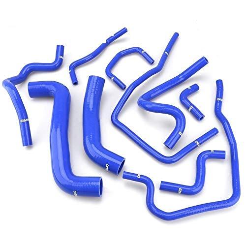DONXIANFENG Azul 10 piezas silicona refrigerante radiador