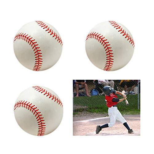 SOWOFA 9 Baseball Hand Stitched Filling Batter Apply Alloy Baseball Soft Base Ball 3 Packs