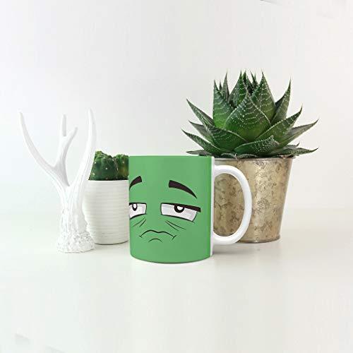 O5KFD&8 11 Unze 9 Bunte Gesichter Mischen Tee Becher Tassen mit Griff Glatte Keramik Personalized Becher - Lustiger Ausdruck Weihnachten, Geeignet für Restaurant white2 330ml