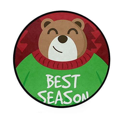 Best Season Tapis rond antidérapant doux pour le yoga, les jeux de bébé, les enfants, les animaux domestiques, pour chambre à coucher, salon, salle de jeux