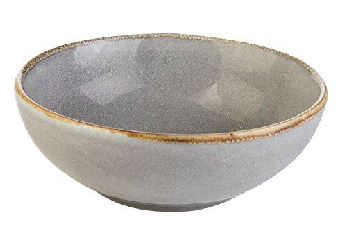 Müslischale Dessertschale Salatschüssel | Steinzeug | Grau | Ø 16,5 cm