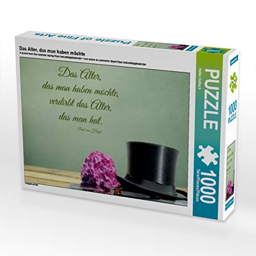 CALVENDO Puzzle Das Alter, das Man haben möchte 1000 Teile Lege-Größe 64 x 48 cm Foto-Puzzle Bild von Heike Hultsch