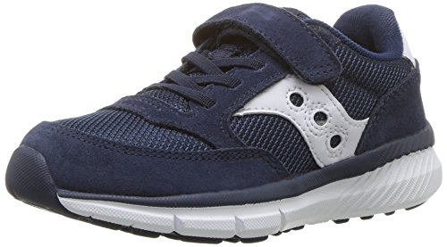 Saucony Baby Jazz Lite Sneaker (Toddler/Little Kid/Big Kid), Navy/White, 6.5 M US Toddler