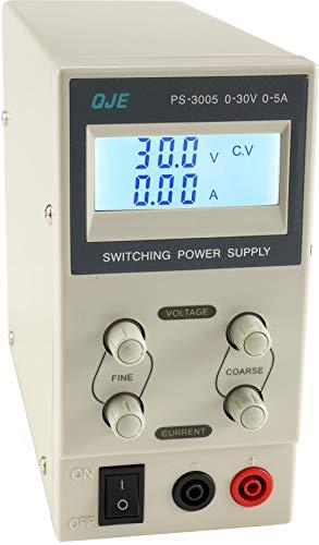 """Fuente de alimentación regulable scienova """" CTL-3005 - pulgada, 0-30V/0-5A con LC-display"""