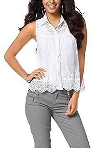 Bluse mit Stickereien von Laura Scott - Weiß Gr. 38