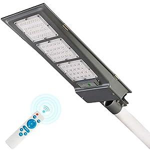 Dailyart 90W Focos Led Exterior 1000LM Luces Led Solares para Exteriores Farolas Exterior Foco Solar Led Exterior Sensor Movimiento IP65 Blanco Frío,para Jardín, Paredes, Caminos, Patio
