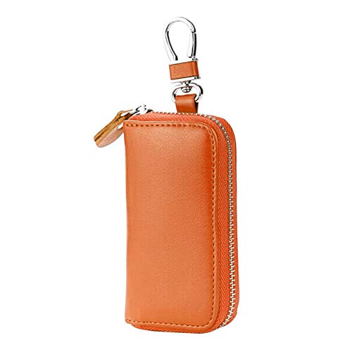 Autoschlüssel Tasche - WENTS Mini Keyless Go Schutz Autoschlüssel, Funkschlüssel Abschirmung Blocker Faraday Tasche Auto,Schutzhüllen für Kreditkarten,Verhindern Sie den Diebstahl Ihres Autos, Braun