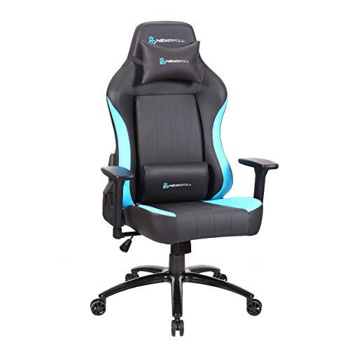 Newskill NS-CH-AKERON-BLUE Akeron - Silla gaming profesional con marco de acero reforzado (sistema de balanceo, reclinable hasta 180 grados, reposabrazos 3D) - Color Azul, mediano ⭐