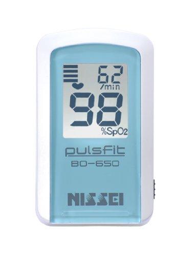 安心の日本製NISSEI パルスオキシメータ パルスフィットBO-650(クレール・ブルー)
