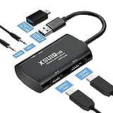 XSUID HDMIキャプチャボードUSB3.0ループアウト4k1080P / 60fpsビデオゲームキャプチャレコーダー、Windows7 / 8/10 Android Mac OSゲームコンソールLinux、Live Twitch Youtubeと互換性があり、リアルタイム録画に対応