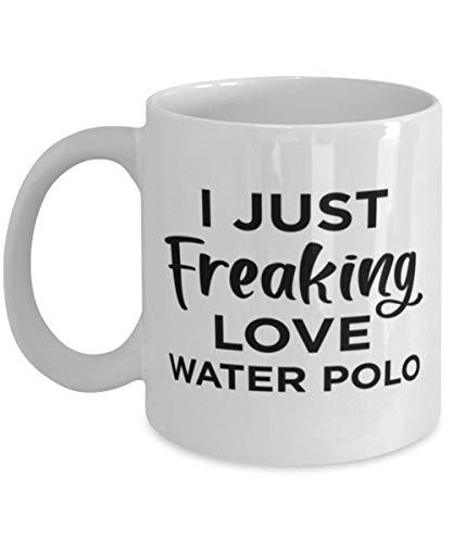 Taza de café para fanáticos de los deportes de yoga - I Just Freaking Love - Taza de té divertida de 11 oz para hombres, mujeres, amigos de la oficina, compañeros de trabajo