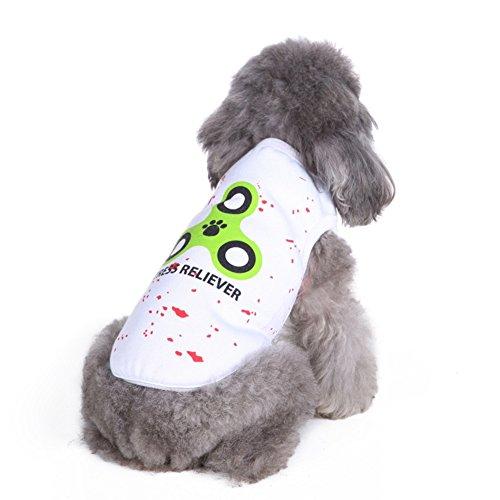 Kleidung Weste T-Shirt Hundekleidung Hundemantel Stricken Gute Textur Geeignet Für Frühjahr Und Sommer,White,M