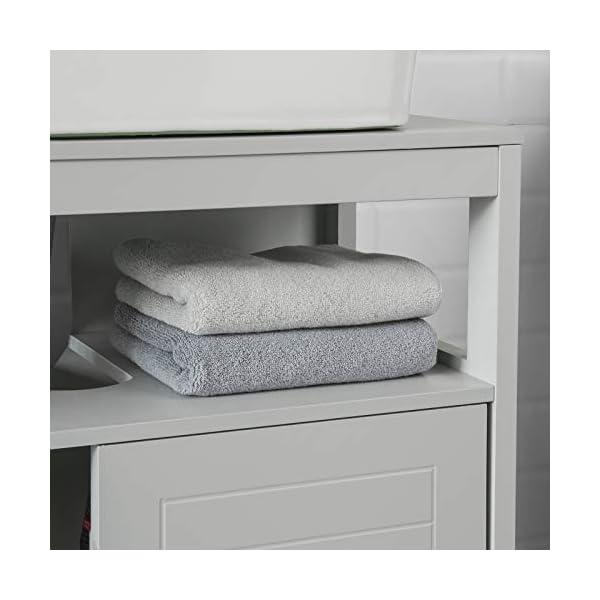 SoBuy FRG128-HG Mueble para Debajo del Lavabo Armario de Baño de Suelo 1 Estante y 2 Puertas Correderas 60 * 30 * 61 cm…